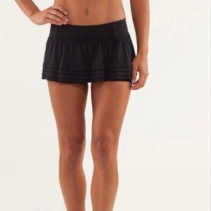 Size 4 Black Lululemon Breath of Fire Skirt